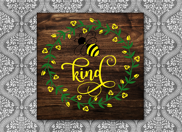 Bee Kind with Floral wreath