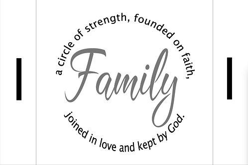Family - a circle of strength Farmhouse Tray