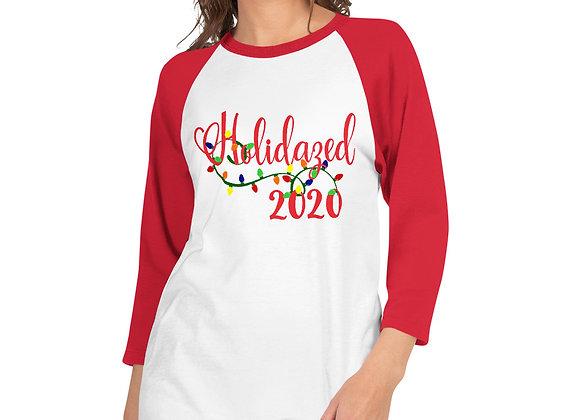 Holidazed 2020 - Unisex - Red/White 3/4 sleeve raglan shirt