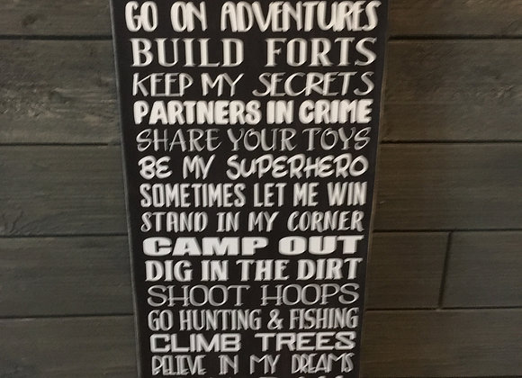 Brothers Customized Sign