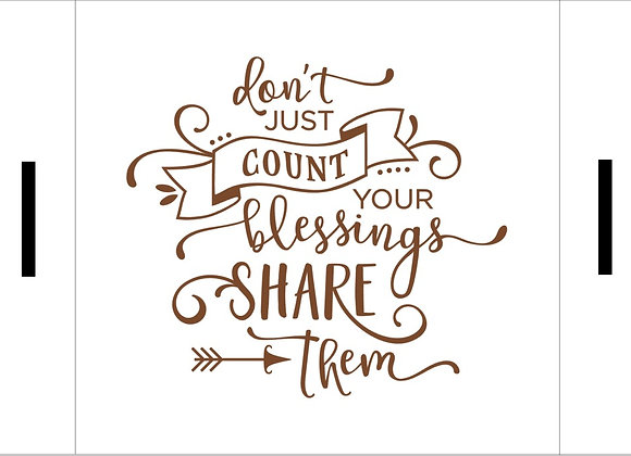 Don't just count your blessings Farmhouse Tray