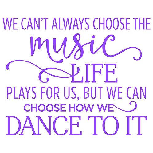 We can't always choose the music..