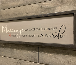 Fun Framed Marriage Sign