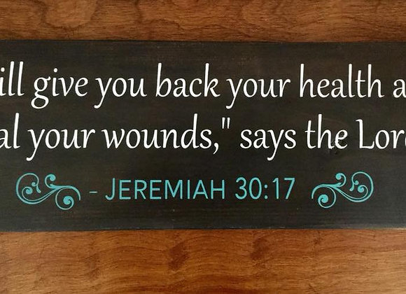 CUSTOM-Your favorite Bible Verse or inspirational quote on hand painted sign.