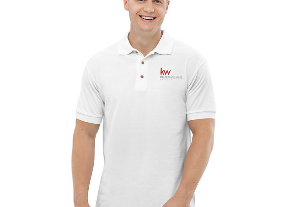 Polo Shirt with Keller Williams Red and Gray Embroidered logo