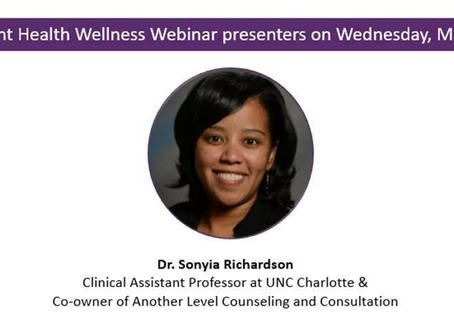 Dr. Sonyia Richardson featured on Novant Health Wellness Wednesday Webinar