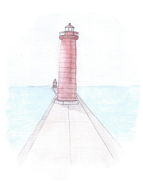 Grand Haven Lighthouse Print (Sans-catwalk!)