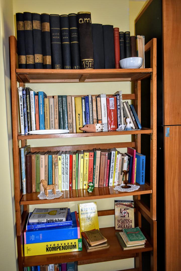 Retro könyvespolc