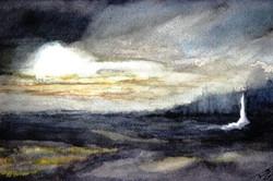 Pleine lune sur Ste-Catherine (2015)