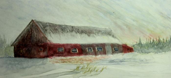 Fin du jour sur la grange (2014)