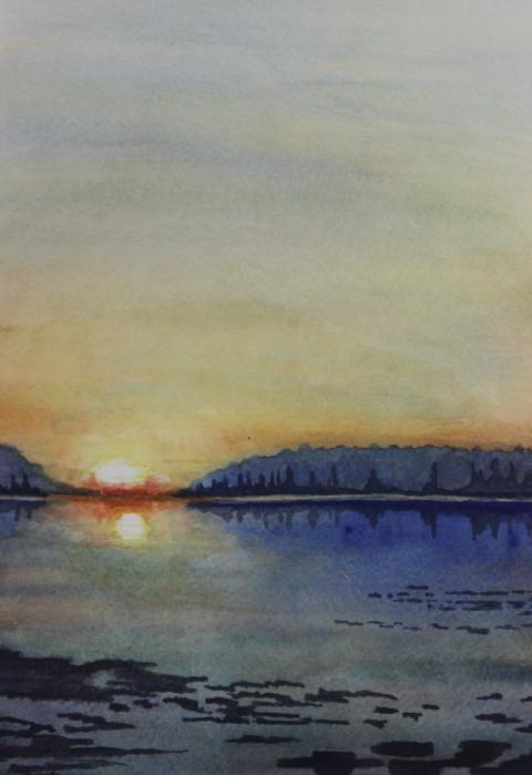 Fin du jour dans la baie (2011)