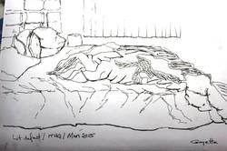 Le lit défait
