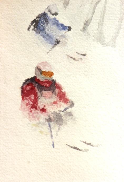 Descente dans la poudreuse (2014)