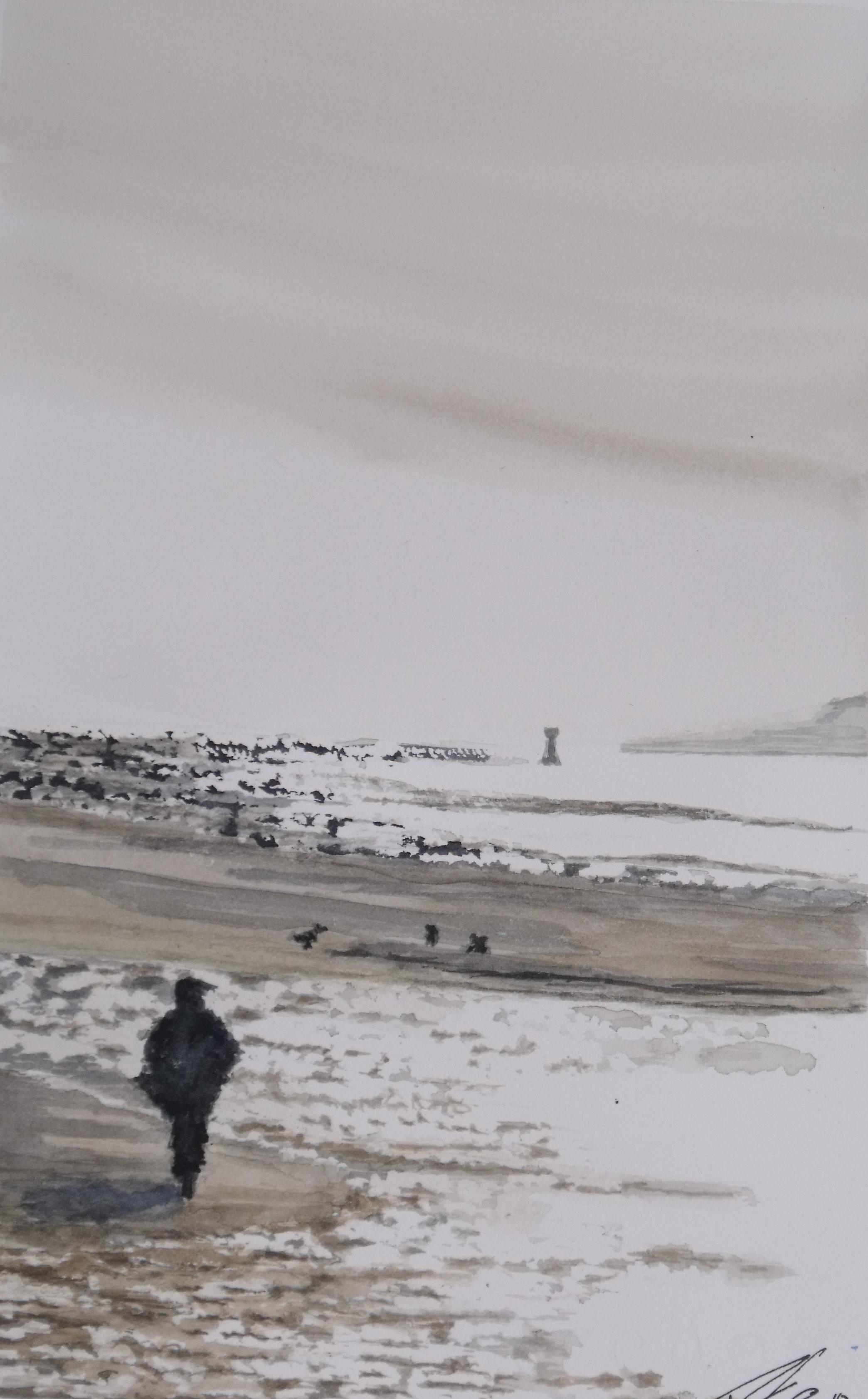 Marcheur sur la plage (2012)