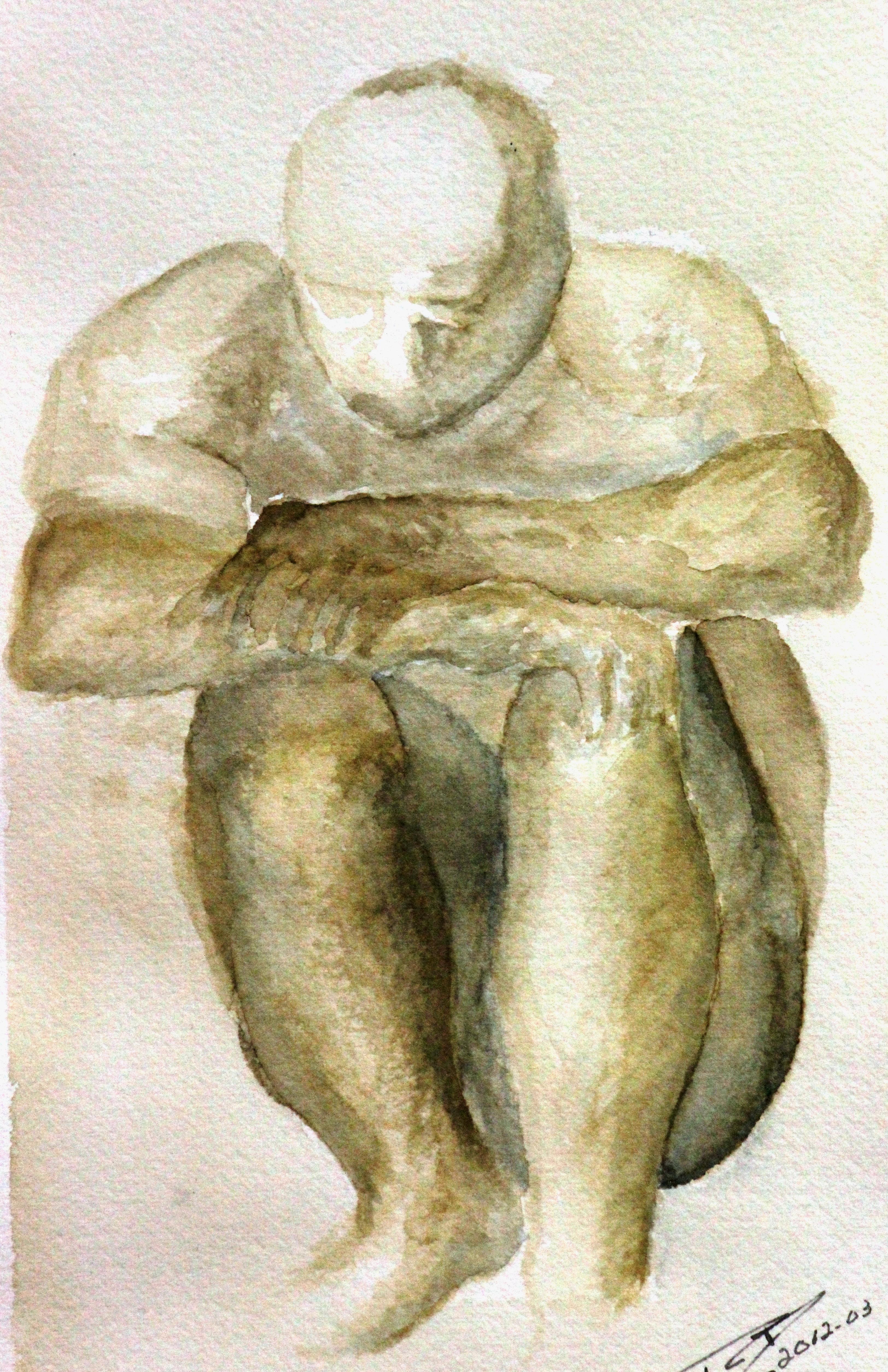 Homme accroupi (2012)