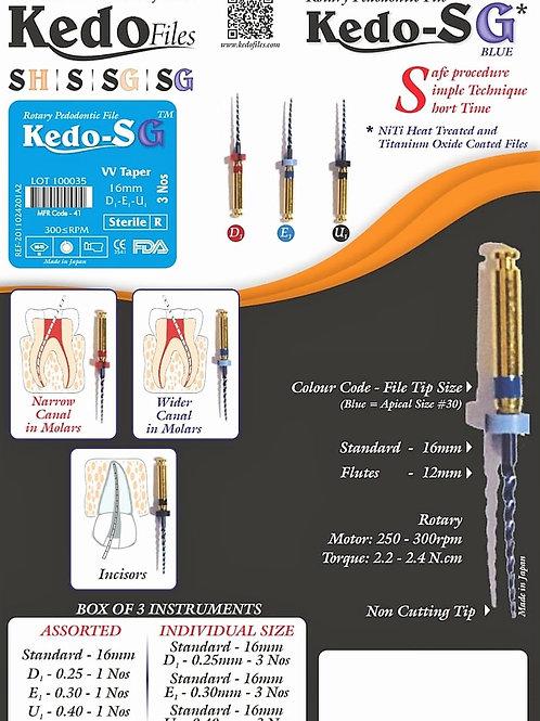 KEDO SG BLUE FLEX -NICKEL TITANIUM+HEAT TREATMENT +TITANIUM OXIDE COATED.