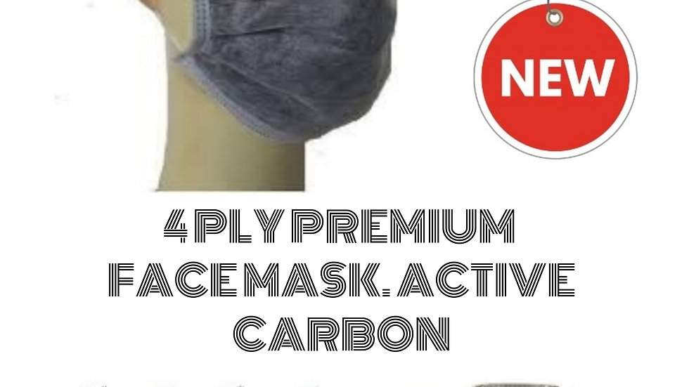 4 PLY CARBON ACTIVATED MASK
