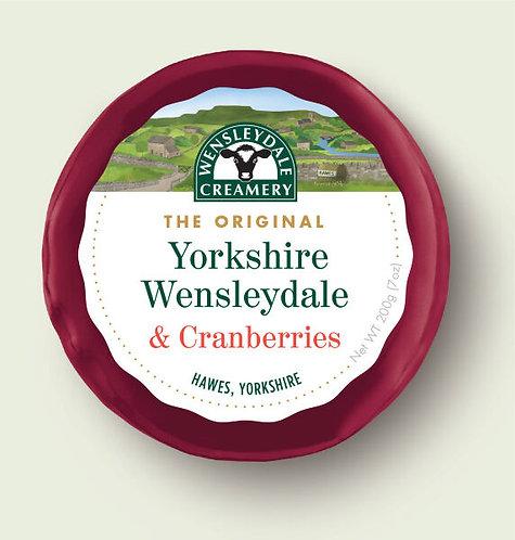 Yorkshire Wensleydale & Cranberries (200g)