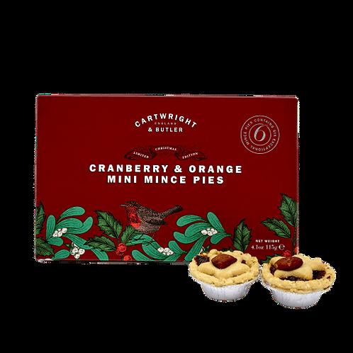 Cartwright & Butler Cranberry & Orange Mince Pies