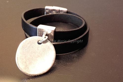 Bracelet double tour médaille