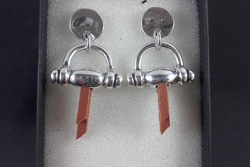 Boucles d'oreilles équestre