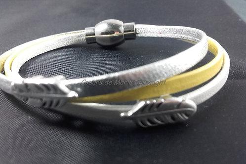 Bracelet ADO double plume