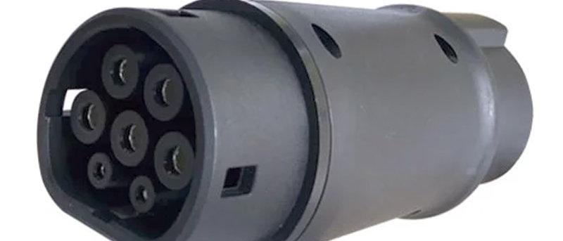 EV Adaptor Convertor Type 1 to Type 2  Socket 32A Electric Vehicle Car EV