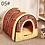 Thumbnail: Casa de cachorro removível lavável para animais de estimação Casa de gatos Tapete de maca de gatos Casa de gatos fofa