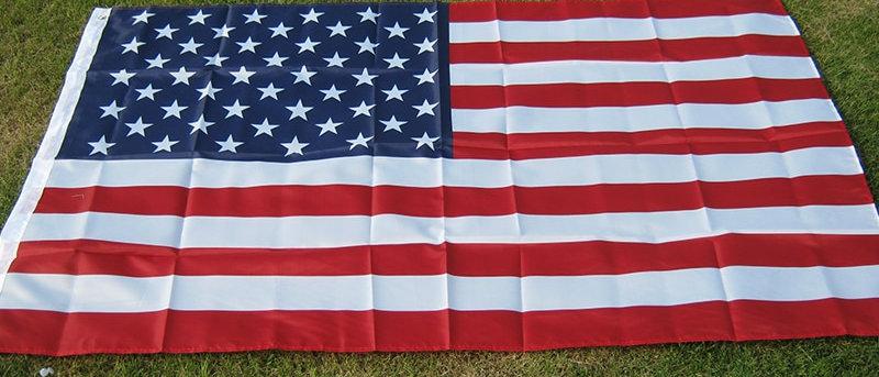 यूएसए ध्वज 150x90 सेमी डबल पक्षीय।
