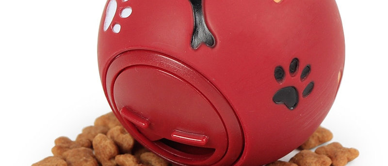 डॉग फूड प्ले टॉय रबर की गेंद चबाने की मशीन लीकेज बॉल