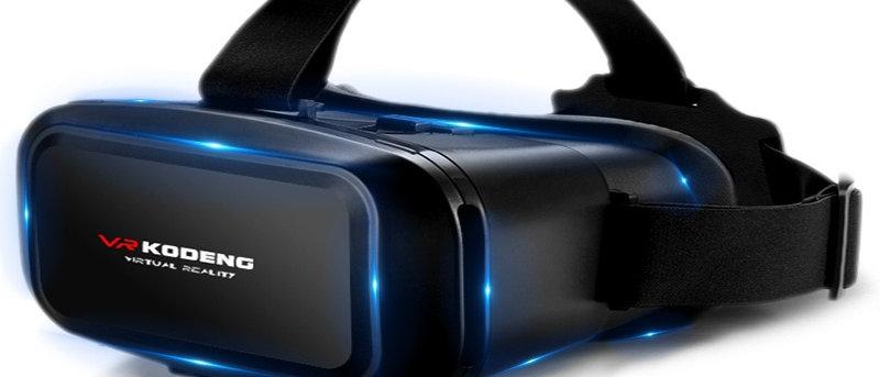 """VR com fone de ouvido de realidade virtual 3D original para smartphone Android IOS de 4-7 """""""