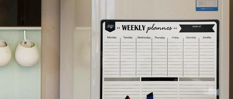 A3 magnético semanal e mensal planejador de quadro branco ímã de geladeira