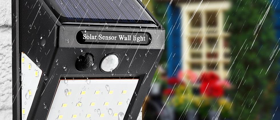 Lâmpada solar LED à prova d'água com sensor de movimento PIR Exterior lâmpada