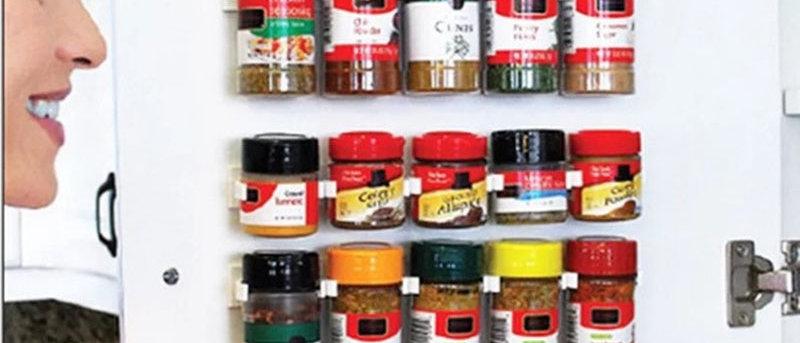 Suporte de parede para rack de armazenamento de 4 peças para cozinha