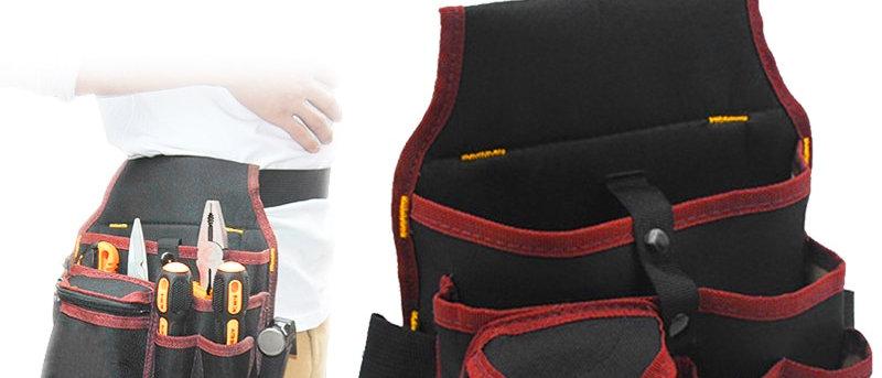 बेल्ट कमर पॉकेट उच्च क्षमता उपकरण बैग आयोजक