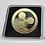Thumbnail: Moeda Bitcoin 40mm de ouro com caixa quadrada de acrílico
