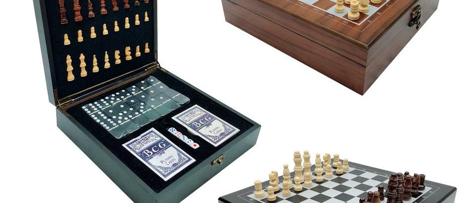 तह नक्काशीदार लकड़ी के शतरंज सेट पोर्टेबल शतरंज खेल।