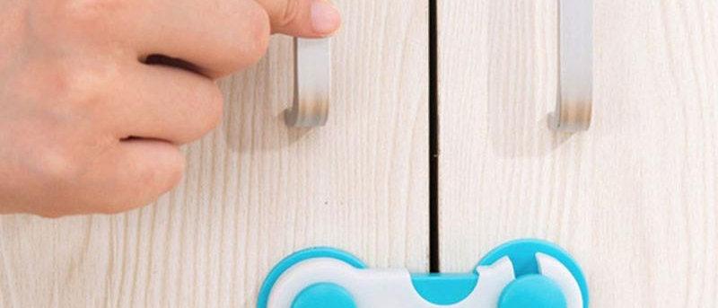 Proteção de gaveta com fechadura de segurança infantil para criança de armário