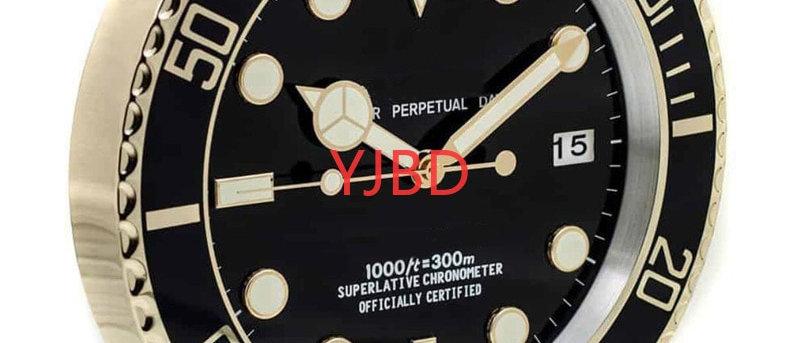 लक्जरी डिजाइनर दीवार घड़ी, रोलेक्स घड़ी के समान, मुफ्त वितरण। इसकी जांच - पड़ताल करें