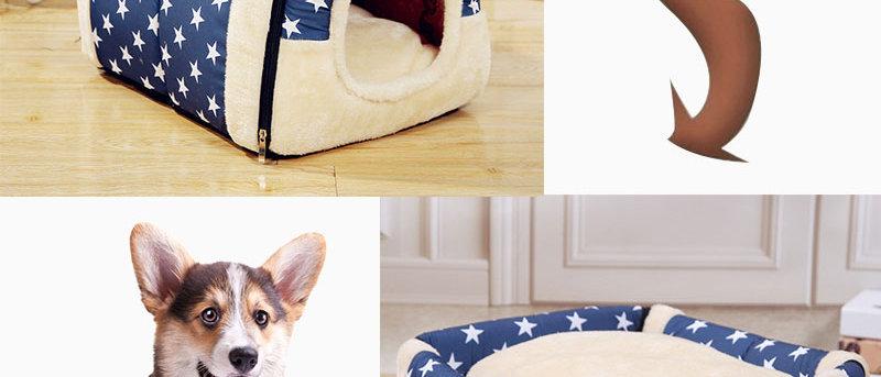 Casa de cachorro removível lavável para animais de estimação Casa de gatos Tapete de maca de gatos Casa de gatos fofa