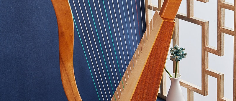 19 String Lyre Piano Instrumento Musical de Lira de Alta Qualidade.