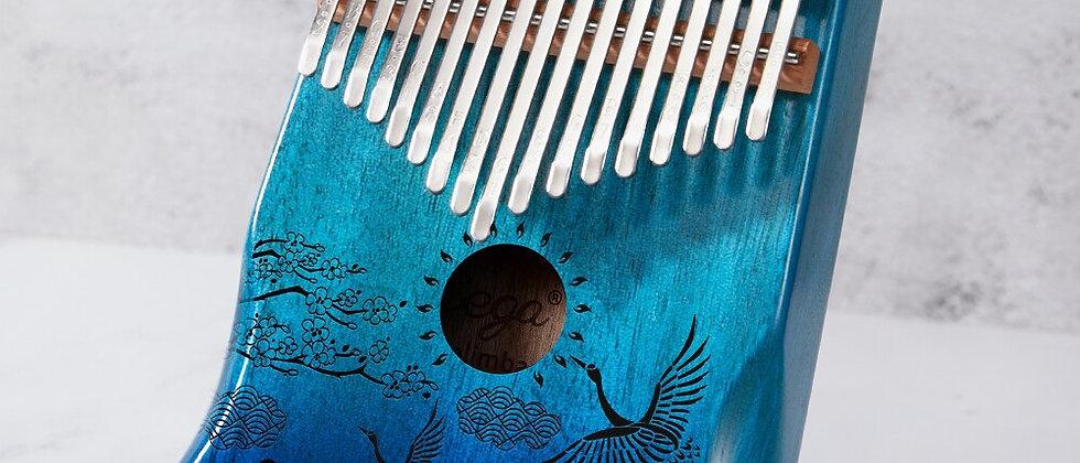 Cega Kalimba 17 teclas de mogno polegar para instrumento musical Mbira