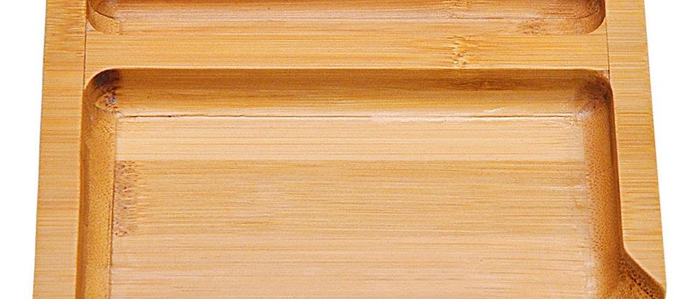 Bandeja rolante de bambu natural 131MM * 151mm Ferramenta de bandejas rolantes de bambu fácil de limpar