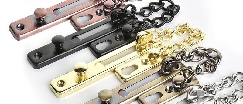 Fechadura de corrente de porta de segurança em aço inoxidável anti-roubo