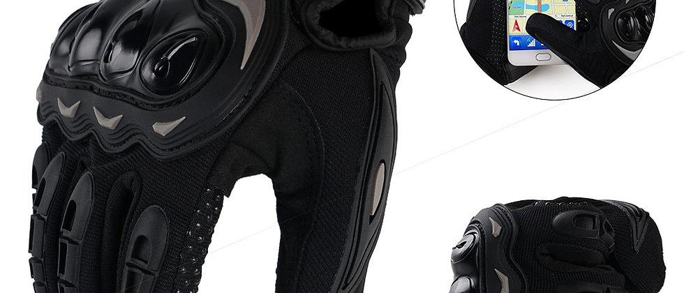 Luva de dedo completo respirável para motociclismo Guantes