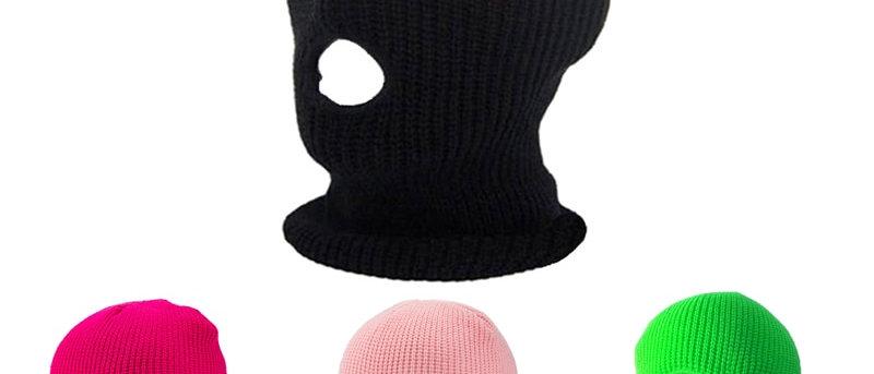 शीतकालीन गर्म पूर्ण चेहरा कवर मोटरसाइकिल स्की मास्क टोपी 3 छेद