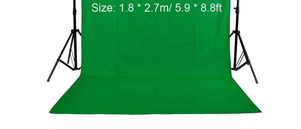 फोटो स्टूडियो के लिए 1.6 X 3M / 5 X 10FT फोटो बैकग्राउंड फोटोग्राफी ग्रीन स्क्रीन