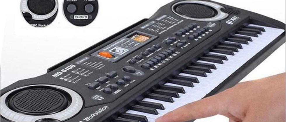 61 कीज़ ब्लैक डिजिटल म्यूज़िक इलेक्ट्रॉनिक कीबोर्ड की बोर्ड इंस्ट्रूमेंट