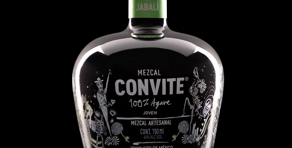 CAJA DE MADERA - MEZCAL CONVITE JABALÍ