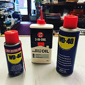 We've got WD-40 and 3 in 1 oil in stock